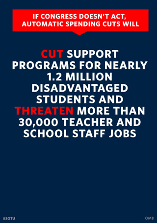 White House Graphic on Budget Cuts