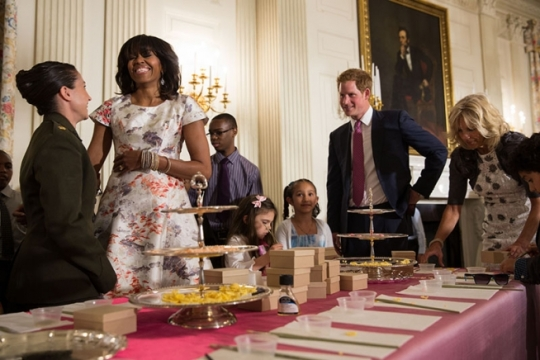 First Lady, Jill Biden and Prince Harry