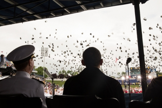 President Obama and Naval Academy Commencement