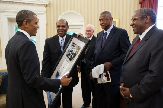 9264985692_70e1321a7a_h Obama with Ramblers