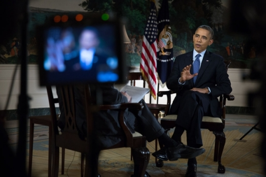 President Obama and Chuck Todd of NBC