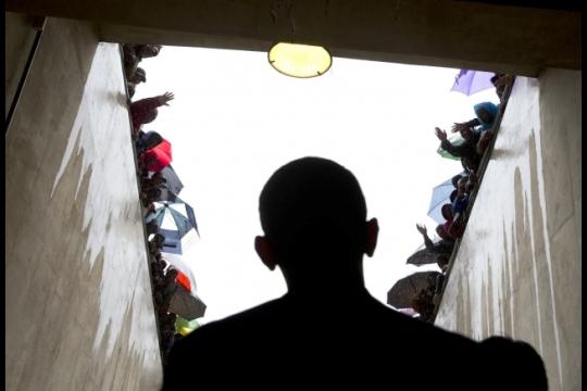 Obama at Manedla Memorial Service