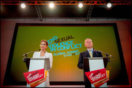 Angelina Jolie, Special Envoy for the UN High Commissioner for Refugees and Foreign Secretary William Hague