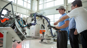 Robotic welding at Chattanooga facility.  Photo Courtesy:  Volkswagen of America, Inc.