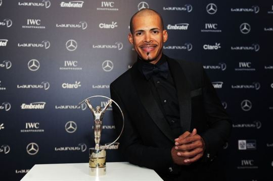 Laureus Ambassador Felix Sanchez.  Photo Courtesy:  Laureus Sport for Good Foundation
