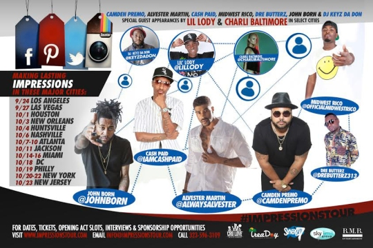 -- Unique music tour sets out on 4 week experiment to garner national attention and leverage it to bring awareness to key social causes while raising artist profiles. -- Photo Courtesy:  Blacknews.com