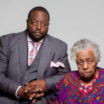Ontra Caples, CEO - Down Home Tea and his grandmother Alice Wicks.  Photo Courtesy:  Down Home Tea
