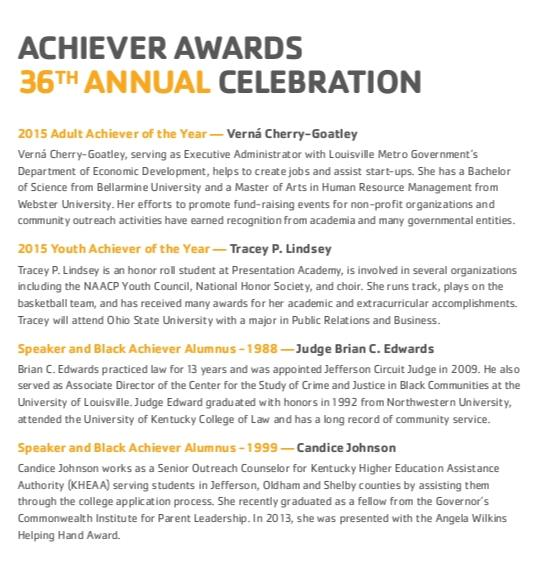 2015 Black Achievers Celebration 2