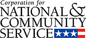 national and community service logo