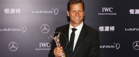 'For the coaches, some of the players and me it was a ten year project,so we were so happy at this moment' – says manager Oliver Bierhoff·   Photo Courtesy:  Laureus Sports Awards