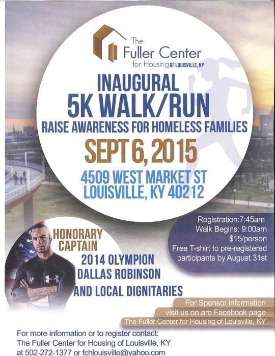 Fuller Center 5K Walk-Run Flyer