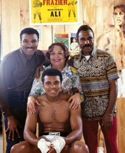 Rahaman Ali Family Photo (left to right back row) Rahaman Ali, mother Odessa Grady Clay, father Cassius Marcellus Clay, Sr. and (front center row) Muhammad Ali.