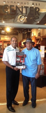"Co-author Ron Brashear and Rahaman Ali author of ""That's Muhammad Ali's Brother! My Life on the Undercard,"" celebrate the book's addition to the Muhammad Ali Center Store. Photo Courtesy: Beenetworknews.com"