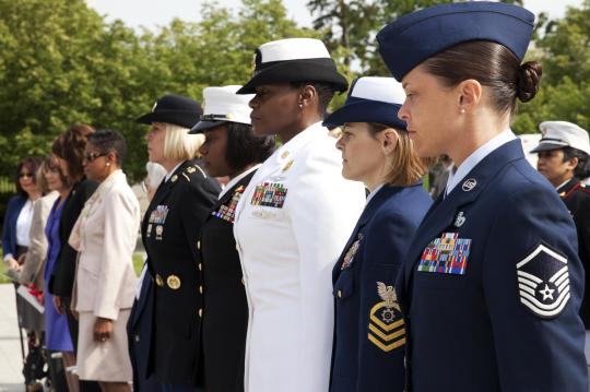 Service members and civilian guests attend the 17th annual wreath-laying ceremony at the Women In Military Service For America Memorial in Arlington Va., May 20, 2014. Photo by: U.S. Marine Corps Lance Cpl. Alejandro Sierras