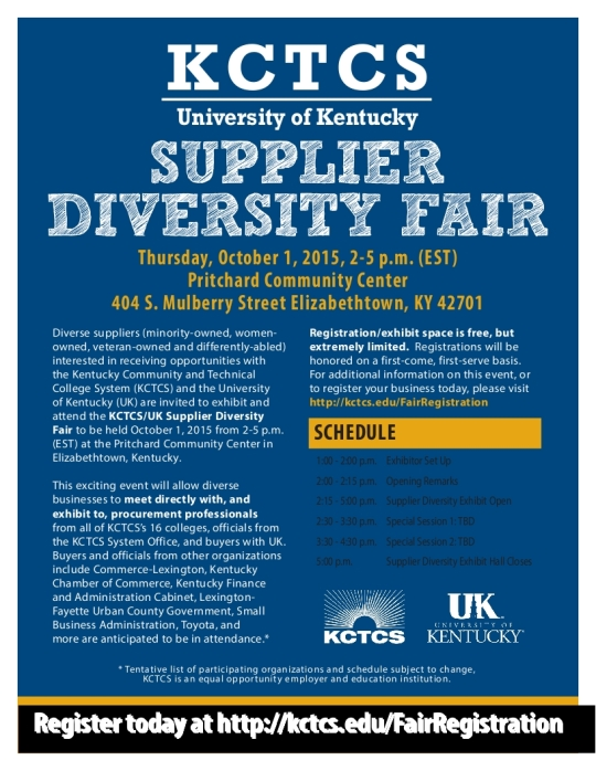 KCTCS UK  2015 SUPPLIER DIVERSITY FAIR FLYER_001