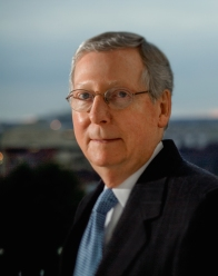 Senator Mitch McConnel (R-KY) photographed at the Capitol on December 2, 2008.  Photograph by Karen Ballard