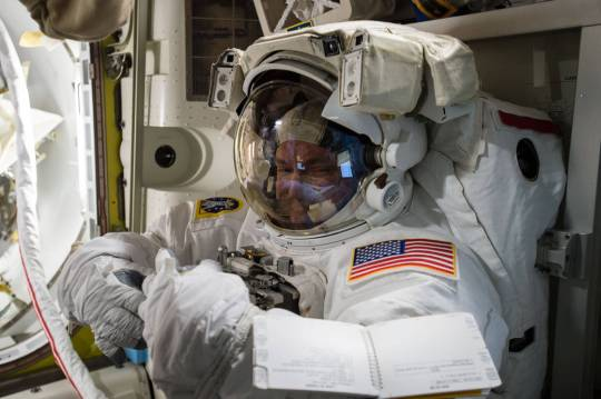 Scott Kelly prepares for space walk.  Photo Courtesy:  NASA
