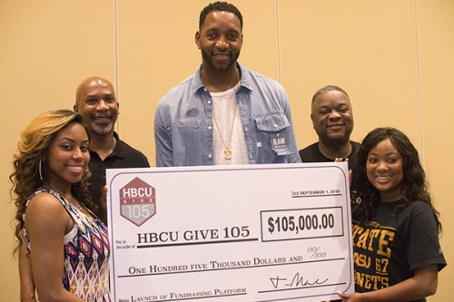 "Tracy ""T-Mac"" McGrady wants to raise $1M per HBCU. Photo Courtesy: Blacknews.com / HBCU"