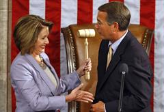Speaker Nancy Pelosi and Ex-Speaker John Boehner.  Photo Courtesy:  Massie Press