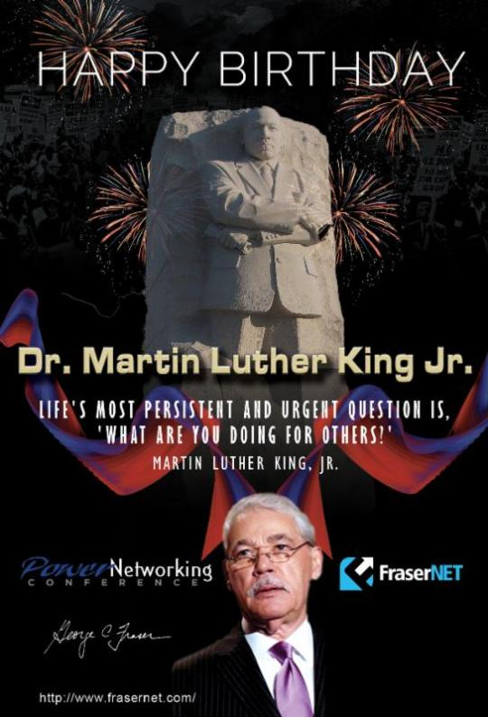frasernet MLK Birthday Wish
