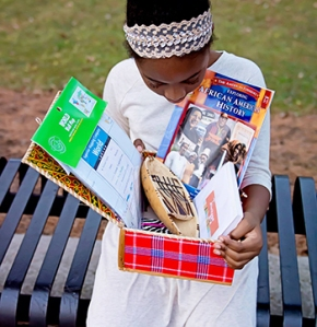 Heritage Box teaches children about Black history year-round.  Photo Courtesy:  Blacknews.com