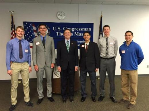 Representative Massie congratulates recent Academy appointees at the 2015 Service Academy Day.