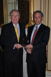 Senator McConnell receives award from CCAGW President Tom Schatz. Photo Courtesy: Ofc. Sen. Mitch McConnell