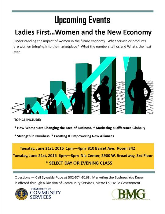 Ladies First ... Women and the New Economy Flyer (Metro)