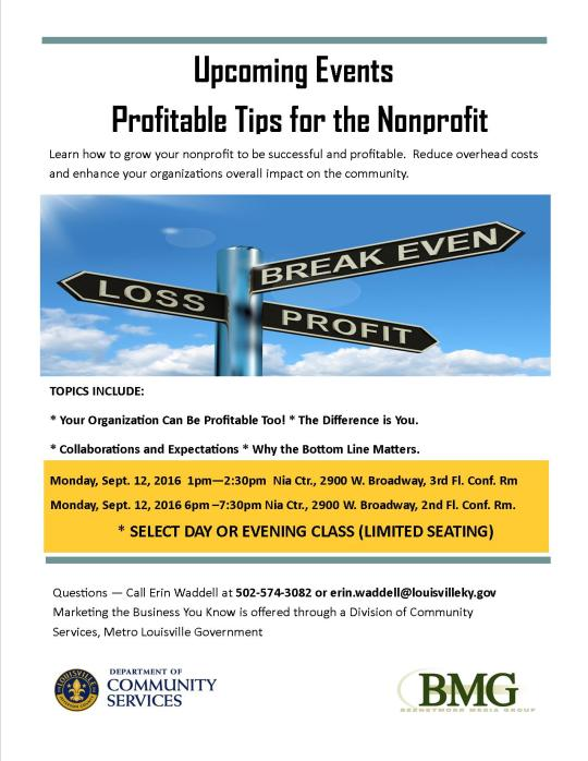 Profitable Tips for the Nonprofit Flyer (Metro)Sept 12, 2016